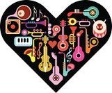 Music,Heart Shape,Musical Band,Orchestra,Musical Instrument,Love,Violin,Viola - Musical Instrument,Variation,Piano Key,Art,Collage,Abstract,Musical Note,Drum,Guitar,Saxophone,art music,Piano,Brass Band,Music Art,Jazz,Vector,Music Festival,Vector Design,Arranging,Party - Social Event,Trumpet,Symbol,Set,Design,Popular Music Concert,Music Background,Classical Concert,Gramophone,Black Color