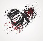 Heart Shape,Grunge,Dirty,Paint,Outline,Broken,Shape,Damaged,Vector,Blood,Ilustration,Backgrounds,Striped,Spray,Valentine's Day - Holiday,Red,Love,Black Color,Spiked,Textured,Design Element,Spotted,Decoration,Splattered,Ink,Rough,Computer Graphic,Development,Flirting,Scratched,Romance,Painted Image,Image,Symbol,Spreading,Day,Thorn,No People,Colors,Abstract,Collection,Backdrop,Design,Messy