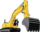 Earth Mover,Vehicle Scoop,Machinery,Isolated,Excavation Vehicle,Dredging - Industry,Construction Machinery,Caterpillar Track,Vector,Group of Objects,Freight Transportation,Equipment,Illustrations And Vector Art,Dredging,Mining,Industry,White Background,Power,Construction Industry,Engine,navvy,Industrial Objects,Black Color,White,Digging,Backgrounds,Yellow,Engineering