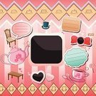 Frame,Heart Shape,Ornate,Scrapbook,Greeting Card,Ilustration,Craft,Decoration,Design Element,Clip Art,Table,Drink,Teapot,Vector,Placard,Bow Tie,Drawing - Art Product,Chair,Scrapbooking,Set,Striped,Paper,Backgrounds,Hat,Love,Pink Color,Label
