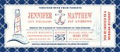 Invitation,Airplane Ticket,Wedding,Nautical Vessel,Anchor,Journey,Lighthouse,Bon Voyage,Rope,Fisherman,Party - Social Event,Red,White,Blue,Wave,Sailboat,Lake,Copy Space,Text,Sea