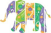 Nature,Elephant,Animals In The Wild,India,Animal,Pattern,Abstract,Curve,Indian Culture,Cultures,Flower,Image,Fun,Color Image,Design,Paint,Petal,Decoration,Paintings,Art,Cutting,Ornate,Vector,Floral Pattern,Shape,Part Of,Leaf,Wildlife,Sketch,One Animal,Biological Culture,Cartoon,Symbol,Ilustration,Single Object,Design Element