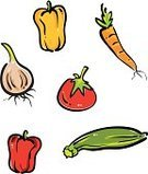 Vegetable,Carrot,Onion,Tomato,Pepper - Vegetable,Ilustration,Bell Pepper,Zucchini,Vector,Food,Crop,Red Bell Pepper,Summer,Agriculture,Vegetarian Food,Healthy Eating,Autumn,Isolated,Gardens,Nature,Food And Drink,Orange Bell Pepper