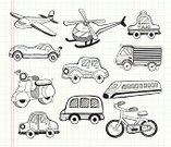 Airplane,Sketch,Doodle,Flying,Racecar,Car,Helicopter,Vector,Bicycle,Transportation,Land Vehicle,Set,Cartoon,Tire,Train,Bus,Cycling,Motorcycle,Symbol,Design,Ilustration,Speed,Truck,Locomotive,Traffic,Driving,Steam Train,Black Color,Design Element,Pick-up Truck,Go - Single Word,Air Vehicle,Decorating,Taxi,Travel,Motor Home,Hand Draw
