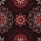 Backgrounds,Spiral,Repetition,Computer Graphic,Art,Curve,Heat - Temperature,Pattern,Pink Color,Circle,Intricacy,Outline,Ornate,Mandala,Elegance,Shape,Brown,Vector,Floral Pattern,Abstract,Geometric Shape,Ilustration,Concentric,Seamless