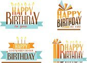 Birthday,Text,Sign,Computer Icon,Candle,Blue,Brown,Orange Color,Gift,Event,ISTEXT2012,Design Element,Message,Symbol,Decoration,Anniversary,Design,Party - Social Event,Cake,Isolated,Retro Revival,Celebration,Congratulating,Ornate,Collection,Label