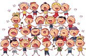 Child,Choir,Singing,Music,Little Boys,Group Of People,Singer,Cartoon,Happiness,Fun,People,Backgrounds,Cute,Small,Joy,Vector,Little Girls,Ilustration