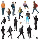 Silhouette,Hipster,People,Walking,Teenager,Eyeglasses,Headphones,Group Of People,Backpack,Fashion,Commuter,Adolescence,Smart Phone,Sitting,Profile View,Male,Crowd,Spectator,Tourist,Youth Culture,Vector,Photographing,Urban Scene,Text Messaging,City Life,Dog,Information Medium,Vibrant Color,Social Gathering,Female,Young Adult,walking dog,Sunglasses,Communication,People Traveling,Funky,Clip Art,Cool,Multi Colored,Purse,Business Travel,Travel,Hat