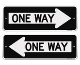 One Way,Sign,Vector,Arrow Symbol,Black Color,Road Sign,Crossroads Sign,Guidance,USA,Safety,White,Urban Scene,Outdoors,Direction,Message,Road,Leaving,Label,Pointer Stick,Roadside,Single Object,Text,Transparent,Journey,Transportation,Street,Thoroughfare,Decisions,Advice,Warning Sign,Symbol,Traffic,Law,Isolated