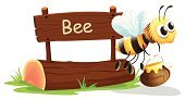 Bee,Lush Foliage,Wildlife,Wood - Material,Insect,Animal,Clip Art,Jar,Food,Multi Colored,Backgrounds,Honey,Alphabet,critter,Grass,Cute,Holding,Flying,Computer Graphic