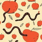 Worm,Apple - Fruit,Colors,Elegance,Leaf,Drawing - Art Product,Food,Humor,Summer,Hat,Eating,Design Element,Seamless,Wrapping Paper,Fun,Wallpaper Pattern,Backgrounds,Joy,Design,Textile Industry,Ilustration,Vegetable Garden,Art,Life,Decor,Gourmet,Textured,Fruit,Decoration,Pattern,Red,Vector,Backdrop,Smiling