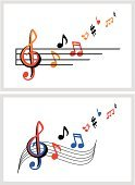 Musical Staff,Key Signature,Sheet Music,Treble Clef,Musical Note,Color Image,Colors,Classical Music,No People,Vector,White Background,Horizontal,Entertainment,Wave Pattern,Musical Symbol,Curve,Black And White,S-shape,Bass Clef,Sound,Vanishing Point