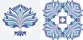 Fashion,Decor,Leaf,Ilustration,Curve,Creativity,Repetition,Growth,Backgrounds,Pattern,Summer,Symbol,Image,Computer Graphic,Blue,Elegance,Grass,Shape,Colors,Nature,Decoration,Vector,Architectural Revivalism,Art,Ornate,Abstract,Swirl,Symmetry