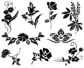 Rose - Flower,Flower,Single Flower,Silhouette,Vector,Black Color,Outline,Daisy,Floral Pattern,Black And White,Flower Head,Leaf,Plant,Ilustration,Clip Art,Shape,Isolated,No People,Page Element