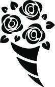 Bouquet,Symbol,Rose - Flower,Flower,Black And White,Silhouette,White Background,Abstract,Outline,Flower Head,Leaf,Plant,Decoration,Petal,Design Element,Backgrounds,Black Color,Nature,Tattoo,Vector,Branch,Sign,Design,Beautiful,Contour Drawing,Ornate,Blossom,Ilustration,Isolated