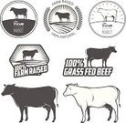 Cow,Cattle,Silhouette,Beef,Butcher's Shop,Back Lit,Old-fashioned,Computer Icon,Symbol,Vector,Sign,Steak,Livestock,Retro Revival,Farm,Label,Freshness,Badge,Bull - Animal,Food,Elegance,Animal,Seal - Stamp,Restaurant,Pasture,Grass,Meat,Ilustration,butchery,Rubber Stamp,Store,Bacon,Black Color,Monochrome,Market,Design,Animal Body,Set,Text,Monochrome Clothing,Domestic Animals,Nature,Grass Fed,Black And White,Raw Food,Merchandise,Isolated,Eat