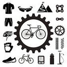 Bicycle,Cycling,Symbol,Computer Icon,Mountain Bike,Gear,Tire,Chain,Mountain,Shoe,Sports Helmet,Sign,Biker,Hobbies,Flag,Sports Shoe,Vector,Street,Water Bottle,Sport,Watch,Exercising,Clothing,Sports Uniform,Country Road,Activity,Ilustration,Bottle,Eyeglasses,Shirt,Set,Sports Glove,Success,Sports Clothing,Pulse Trace,Achievement