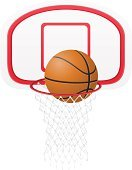 Basketball Hoop,Net - Sports Equipment,Basketball - Sport,Aspirations,Goal,Competition,Circle,Success,Exercising,Sphere,Sports Team,Basket,D.J. White,Equipment,Jumping,Competitive Sport,Sport,Symbol,Single Object,Ilustration,Play,Playing,Vector,Pursuit,Ball,Activity,Professional Sport,Colors,Isolated