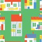 Backgrounds,House,Yellow,Red,Multi Colored,Wrapping Paper,Green Color,Art,Colors,Decor,Seamless,Drawing - Art Product,Roof,Cute,Rural Scene,Blue,Textile Industry,Built Structure,Window,Design,Design Element,Wallpaper Pattern,Decoration,Pattern,Textured,Ilustration,Vector,Backdrop,Vibrant Color,Grass