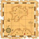 Treasure Map,Pirate,Vector,Fantasy,Discovery,Adventure,Topography,Eps10,Exploration,Sailor,Island,old map,Antique Map,mountan,Sea,Pacific Ocean,Direction