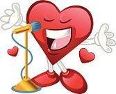 Music,Humor,Love Message,Valentine' Day,Human Heart,Love Song,Singing,Characters,Mascot,Heart Shape