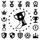 Trophy,Computer Icon,Symbol,Award,Silhouette,Medal,Black Color,Award Ribbon,Number 1,Vector,Icon Set,Sport,Sign,Ilustration,Cup,Celebrities,Achievement,Winning,Success,Shield,Medalist,Honor,Shape,Computer Graphic,Design Element,First Place,Incentive,Star Shape,Victory,Competition,Leadership,Design,Competitive Sport,Satisfaction,Insignia