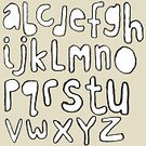 Alphabet,Drawing - Art Product,Text,hand drawn,Doodle,Ilustration,Sketch,Line Art,Typescript