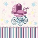 Baby,Retro Revival,Child,Single Object,Carriage,Remote,Vector,Invitation,Isolated,calash,Star Shape,Ilustration,Jogging Stroller,Baby Stroller,Star - Space,Clip Art,Celebrities,Creativity,Backgrounds,Art,Baby Carriage,Fun,Cartoon