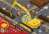 Earth Mover,Engineer,Piston,Engineering,Reflector,Hydraulic Platform,Chisel,Construction Worker,Isometric,chiseled,Bulldozer,Construction Machinery,Foreman,Building - Activity,Equipment,crawlers,leverage,Isolated,Drill,Manual Worker,Yellow,Industry,Construction Industry,Machine Part