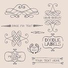 Frame,Swirl,Label,Old-fashioned,Doodle,Ilustration,Drawing - Art Product,Retro Revival,Elegance,Design Element,Decoration,flourishes,hand drawn,Classic,Simplicity,Style,Set,Sketch,Line Art,Collection,Ornate