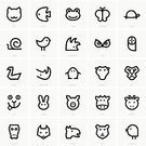Symbol,Computer Icon,Domestic Cat,Undomesticated Cat,Turtle,Fox,Hedgehog,Pig,Cow,Butterfly - Insect,Rabbit - Animal,Dog,Tortoise,Pattern,Owl,Frog,Snail,Lion - Feline,Penguin,Fish,Leopard,Chicken - Bird,Bird,Giraffe,Vector,Animal,Remote,Bear,Set,Computer Graphic,Swan,Rhinoceros,Donkey,Crocodile