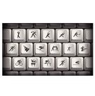 Athlete,Computer,Sports Training,Sport,Square,Cycling,Modern,Fencing,Symbol,Skateboard,Hockey Puck,Tennis,Design,Field Hockey,Badminton,Snowboard,Skiing,Computer Icon,Keypad,Running,Skill,Skating,Practicing,Speed,Racket,Teamwork,Gray,Vector,Karate,Golf,Black Color,Horse,Competitive Sport,Boxing,Playing,Typing,Shuttlecock,Ice Hockey,White,Weapon,shortcut,Club,Brightly Lit,Computer Key,Backgrounds,Ball,Simplicity,Event,Competition,Ilustration