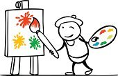 Artist,Black And White,Art,Painted Image,Palette,Easel,Pencil Drawing,Happiness,Tie,Expertise,Art Piece,Orange Color,Holding,Symbol,Multi Colored,Paint,Businessman,Sketch,Business,Single Object,Male,Men,Characters,Vector,Painter,Smiling,Outline,Yellow,Concepts,Isolated,Drawing - Art Product,Blue,Cheerful,Ideas,Professional Occupation,Creativity,Hat,Rack,Ilustration,Line Art,Cartoon,Paintbrush,Painting,Standing,Colors