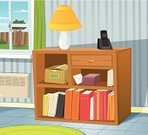 Domestic Room,Radiator,Corridor,Entrance Hall,Furniture,Book,Equipment,Home Interior,Flooring,Box - Container,Wall,Apartment,Cartoon,Cardboard,Inside Of,Lifestyles,Tile,Crate,Wallpaper,Summer,Lighting Equipment,Tiled Floor,Residential District,Telephone,Electric Lamp,House,Window,Indoors,Springtime,Domestic Life,Curtain,Group of Objects,Vector,Drawer,Ilustration,Bookshelf,Carpet - Decor,Residential Structure