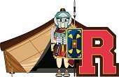 Smiling,Tent,Entertainment Tent,Learning,Roman,Weapon,Education,The Past,Cape,Cartoon,Clip Art,Sandal,Robe,Suit of Armor,Spear,Sword,Work Helmet,Marquee Tent,Cute,Letter R,Funky,Holding,Fun,Cool,History,Vector,Men,Tunic,Scabbard,Isolated,Alphabet,Shield,Roman Centurion,Ilustration,Armed Forces