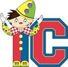 Letter C,Little Boys,Ilustration,Alphabet,Non-Urban Scene,Vector,Uniform,Circus,Funky,Cartoon,Cute,Education,Clown,Performer,Bow Tie,Entertainment,Modern,Smiling,Learning,Hat,Clip Art
