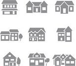 House,Symbol,Computer Icon,Residential Structure,Vector,Simplicity,Residential District,Outline,Real Estate,Cultures,Shape,Suburb,Built Structure,Urban Scene,Roof,Mansion,Chimney,Architecture,Building Logo,Building House,Building Icon,House Exterior,Entrance,Ilustration,Retro Design,Collection,Isolated,Design Element,Variation,Design,Set,Group of Objects,Window