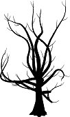 Tree,Silhouette,Black Color,Spooky,Branch,White,Death,Horror,Single Object,Vector,Plant,Black And White,Bizarre,Leaf,Isolated,Ilustration,Cut Out,Nature,White Background,Isolated On White,Stem,Holidays And Celebrations,Isolated Objects,Halloween,No People,Close-up