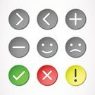Internet,Circle,Symbol,Emoticon,Ilustration,Label,Stop,Arrow Symbol,Web Page,Interface Icons,Set,Data,Direction,Smiling,Vector,Computer Icon,Sign,Design,Icon Set,Isolated,Modern,Green Color,Connection,Happiness,Yellow,Red,Pushing