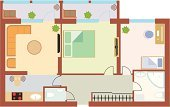 Home Interior,Plan,Blueprint,Apartment,Planning,Furniture,Inside Of,Bedroom,Drawing - Art Product,Domestic Room,Door,Vector,Ilustration,Part Of,City,Architecture,Domestic Bathroom,Built Structure,Bed,Lifestyles,Domestic Kitchen,Television Set,Flooring,Entrance Hall,Housing Development,Table,Computer,Development,Window,Painted Image,Construction Industry