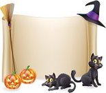 Broom,Witch,Witch's Hat,Halloween,Placard,Billboard,Party - Social Event,Backgrounds,Smiling,Happiness,Black Color,Invitation,Vector,Ilustration,Blank,Scroll,Scroll,Backdrop,Banner,Pumpkin,Orange Color,Hat,Domestic Cat,Drawing - Art Product,Sign,Fun,Horror,Lantern,Spiked,Carving - Craft Product,Frame,Cartoon