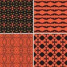 Wallpaper,Pattern,Set,Seamless,Wallpaper Pattern,Black Color,Orange Color,Repetition,Backgrounds,Multi Colored,Yellow,Abstract