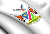 Coat Of Arms,Namibia,Close-up,Three-dimensional Shape,Ilustration