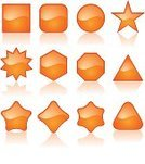 Shape,Star Shape,Simplicity,Two-dimensional Shape,Geometric Shape,Interface Icons,Orange Color,Sparse,Shiny,Computer Icon,Vector,Backgrounds,Circle,Internet,Icon Set,Cool,Frame,Sign,Funky,Computer Graphic,Set,Abstract,Metallic,Chrome,Isolated,Design,Reflection,Curve,Plastic,Art,Style,Modern,Digitally Generated Image,No People,Ilustration,Clean,Communication,Illustrations And Vector Art,Empty,Part Of,Concepts And Ideas