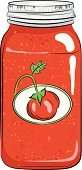 Tomato Sauce,Canning,Jar,Airtight,Lid,Label,No People,Ilustration,Vector,Single Object,Canning Jar,Commercial Kitchen,Preserves,Can,Canned Food,Tomato,stewed tomatoes,Domestic Kitchen,Container,Food,Vegetable,Glass - Material,Old-fashioned,Colors