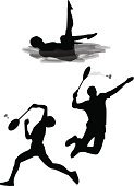 Badminton,Silhouette,Synchronized Swimming,Swimming,Sport,Shuttlecock,Vector,Professional Sport,Badminton Racket,Symbol,Black And White,Racket,Sports Event,Ilustration,Women,Men,Winning,Success,Racket Sport,Team,Athlete,Black Color,Competition,Competitive Sport,Water Sport,Sports And Fitness,Individual Event,Illustrations And Vector Art,Sports Symbols/Metaphors,Sports Team,Sports Round,Vertical,Isolated On White,Competition,Three People