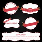 Vector,Ilustration,Commercial Sign,Backgrounds,Greeting,Elegance,Red,Ribbon,Direction,Pattern,Label,Security,Greeting Card,Part Of,Symbol,Set,Banner,Painted Image,Abstract,Collection,Insignia,Menu