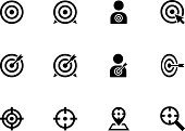 Computer Icon,Symbol,Target,Military,White,Focus - Concept,Accuracy,Determination,Sport,Center,Arrow Symbol,Vector,Spotted,Concepts,Flat,Target Shooting,Dartboard,Aiming,Gun,Strategy,Crossing,Weapon,Archery,Isolated,Circle,Set,Ideas,Sign,Design,Ilustration,Goal