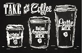 Coffee - Drink,Chalk - Art Equipment,Coffee Cup,Blackboard,Take Out Food,Ilustration,Label,Drawing - Art Product,Cafe,Food,Coffee Bean,Old-fashioned,Retro Revival,Sketch,Cup,Set,Milk,Vector,Italy,American Culture,Backgrounds,Badge,Design Element,Container,Mobility,Espresso,Liquid,Bubble,Design,White,Drink,No People,Lid,Black Color,Business,Drinking Cup,Plastic,Disposable,Disposable Cup,Close-up,Blank,Coffee To Go,Empty,Latte,Picking Up,Cardboard
