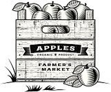 Old-fashioned,Crate,Apple - Fruit,Line Art,Box - Container,Woodcut,Gardening,Rubber Stamp,Leaf,Fruit,Agriculture,Healthy Eating,Orchard,Single Word,Farm,Label,Food,Textured,Autumn,Sign,Ilustration,Wood - Material,Banner,Organic,Drawing - Art Product,Freshness,Crop,Merchandise,Scratched,Engraved Image,Ripe,White,1940-1980 Retro-Styled Imagery,Vector,Harvesting,Short Phrase,Nature,Text,Design,Farmer's Market,Print,Summer,Vegetarian Food,Plantation,Black Color